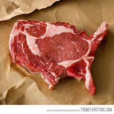 The United Steaks of America- Three cheers for the Red, White and ummm....ah...