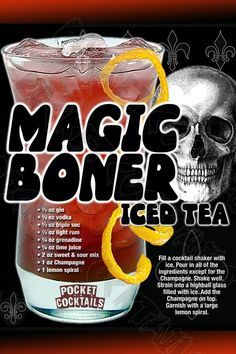 Mixed Drinks Alcohol, Alcohol Drink Recipes, Iced Tea Cocktails, Cocktail Drinks, Liquor Drinks, Alcoholic Drinks, Liquor Shots, Beverage, Halloween Drinks