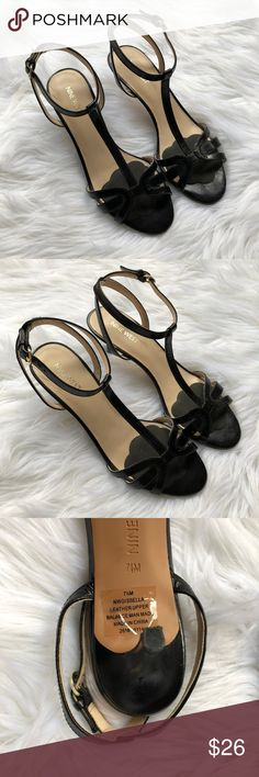Nine West T Strap Black Kitten Heels These Nine West scream classic. They are a size seven and in amazing condition. hey are a t strap style and a statin material. Thank you for looking and don't forget you save more money with a bundle! Nine West Shoes Heels