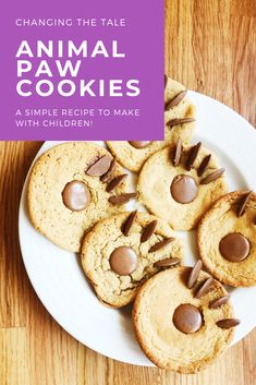Perfect for 'We're Going on a Bear Hunt' book activities and 'The Tiger Who Came to Tea' activities too. Ideal for children to bake, especially for animal themed parties! Craft Activities For Kids, Book Activities, Eyfs Activities, Preschool Activities, Hunts Recipe, Chocolate Buttons, Cookies For Kids, Baking With Kids, Themed Parties
