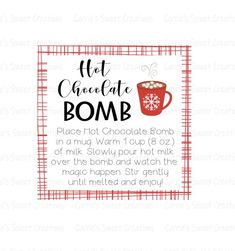 Hot Chocolate Gifts, Chocolate Bomb, Hot Chocolate Bars, Chocolate Sticks, Christmas Chocolate, Cookie Gifts, Food Gifts, Gift Tags Printable, Round Labels