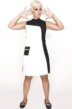 Love The Louvre MADEMOISELLE YEYE 60s Mod Dress c87b4ec70