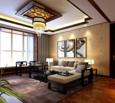 Chinese living room ceiling picture