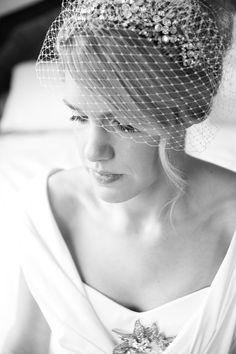 romantic vintage style birdcage veil