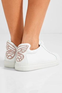 Sophia Webster | Bibi Butterfly embroidered leather sneakers | NET-A-PORTER.COM