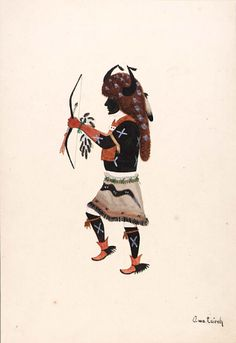 Basket Dancer ca. 1917-1925 Awa Tsireh Born: San Ildefonso Pueblo, New Mexico Died: San Ildefonso Pueblo, New Mexico watercolor and pencil on paperboard 12 x 8 1/2 in. (30.5 x 21.5 cm) Smithsonian American Art Museum
