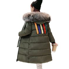 Women Parka Down Cotton Jacket 2017 Winter Jacket Women Thick Snow Wear Coat Lady Clothing Outerwear Female Jackets Parkas ~ Shop 4 Xmas n Locate this beautiful piece simply by clicking the image. Faux Fur Collar, Fur Collars, Winter Jackets Women, Coats For Women, Snow Wear, Long Parka, Womens Parka, Hooded Parka, Cotton Jacket