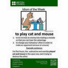 To play cat and mouse