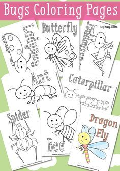 Little Bugs Coloring Pages for Kids - Easy Peasy and Fun