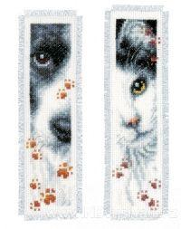 VE-PN0155651 Záložky do knihy - psí a kočičí tlapičky (set 2ks)