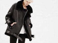 Trend-Lederjacke: Shearling-Jacke will jetzt jeder tragen