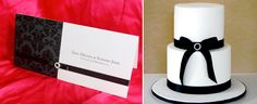 Midnight Wedding Invitation in classic black and white, a perfect match for The Cake Company's two tier less-is-more elegance.  http://blacktieweddinginvitations.com.au/galleries/classic-wedding-invitations/midnight