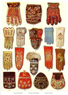 Gloves, mittens, bags in Scandinavian textiles. Textiles, Folklore, Costume Ethnique, Object Lessons, Knit Mittens, Fingerless Mittens, Folk Costume, Costumes, Scandinavian Design