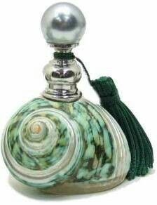 Shell perfume bottle