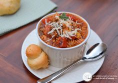 Lasagna Soup Recipe {Stephanie Lynn} - recipe used by Amanda of Dixie Delights