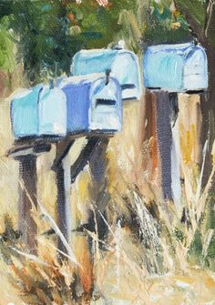 KMD2895 Keenly Awaiting by Colorado artist Kit Hevron Mahoney 7x5 original oil landscape, painting by artist Kit Hevron Mahoney