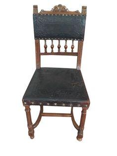 4 adet ceviz deri kaplama yemek sandalyesi - Dekopasaj.com - dekopasaj.com