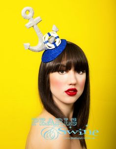 Oh Buoy – Glittered Anchor Fascinator
