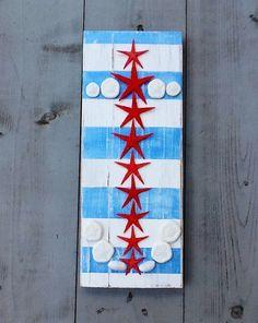 Patriotische Starfish Anchor/Anker Kunst