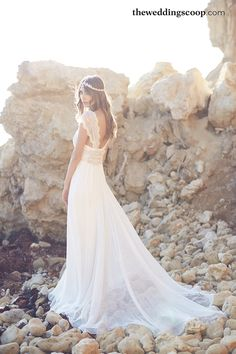 Coco wedding gown with customised silk tulle skirt // Fall in Love With Anna Campbell's