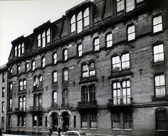 Oldest apartment building in NYC, at 142 E 18th Street. Was built in 1870's and torn down replaced ~1960. Photo by Berenice Abbott, in 1935.
