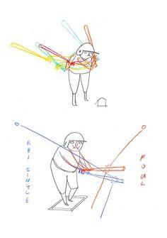 Japan Baseball Sketchbook By Edward Steed on The New Yorker ||| Sixteen-year-old celebrity Kotaro Kiyomiya at-bat at Summer Koshien