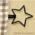 Piper Classics | Country Style Curtains | Wrought Iron Curtain Rods