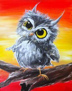 Owl Canvas, Canvas Art, Painting Canvas, Diy Painting, Animal Drawings, Art Drawings, Art Deco Posters, Owl Art, Mexican Folk Art