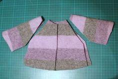 Teile für Puppenmantel - parts for doll's coat