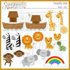 Noah s Ark Clipart Noahs Arche Clipart von SanqunettiDesigns Zoo Clipart, Zebra Clipart, Cricut Baby Shower, Clip Art, Zoo Animals, Cutest Animals, Wild Animals, Funny Animals, Animal Heads