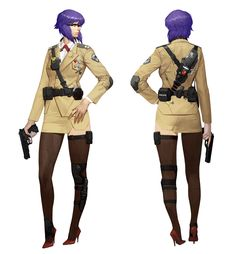 ArtStation - Motoko Kusanagi in formal uniform, Chang Woo Lee Female Character Design, Character Creation, Character Drawing, Character Design Inspiration, Character Concept, Concept Art, Armor Concept, Character Sheet, Female Characters