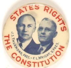 Strom Thurmond button from 1948
