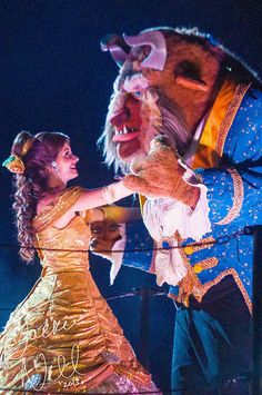 Belle and the Beast from Beauty and the Beast