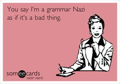 I don't think they teach grammar or spelling in school now.At least you wouldn't know it from the posts on FB Grammar Quotes, Bad Grammar, Grammar Humor, Grammar And Punctuation, Spelling And Grammar, Funny Quotes, Biology Humor, Chemistry Jokes, Science Jokes