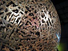 metal sphere sculpture