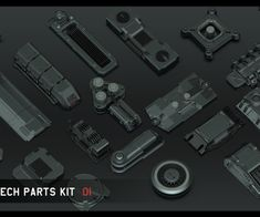 Universal Hi-tech parts kit - part 1 by Alexey Pyatov Iphone Information, Iphone Secrets, Sketchup Model, Game Assets, Space Station, Terms Of Service, Quad, Iron Fist, Tech