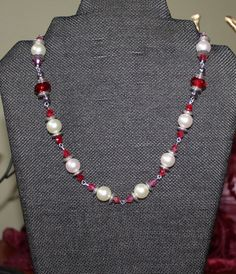Pearly White And Red by Solarspectrum on Etsy