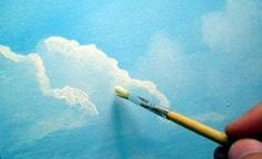 tutorial (part of a whole series on painting a scenic picture. Made for b clouds tutorial (part of a whole series on painting a scenic picture.clouds tutorial (part of a whole series on painting a scenic picture. Acrylic Painting Techniques, Painting Lessons, Art Techniques, Art Lessons, Painting & Drawing, Acrylic Painting For Beginners, Drawn Art, Learn To Paint, Art Tutorials