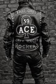 Café Racer 59 Rocker Ton-Up Boys Motos Motard Team bricolage Veste iron on patch