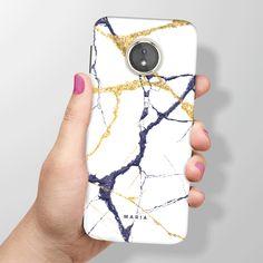 039eee1c3 White Marble Moto E5 Case, Moto E5 Plus Case, Moto E5 Play Case, Motorola E  5th Gen, Personalised Case, Custom Name Phone Case - 100