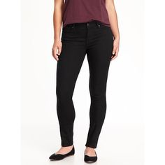 Old Navy Womens Curvy Mid Rise Skinny Jeans ($27) ❤ liked on Polyvore featuring jeans, black, petite, old navy skinny jeans, super stretch skinny jeans, patch jeans, old navy and stretch skinny jeans