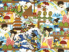 Anime Video Game Theme  Transpacific Textiles  201-4132 BLUE