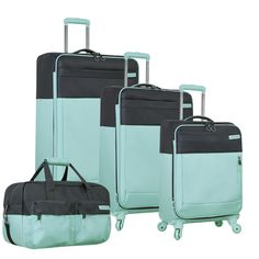 Modern and sleek, The Nautica Harpswell 4 Piece Expandable Spinner Luggage Set is the perfect collection for any jetsetter. With the option of both spinner suitcases and a wheeled one, this set truly Cute Luggage, Carry On Luggage, Luggage Sets, Travel Luggage, Travel Bags, Suitcase Set, Spinner Suitcase, Packing Tips For Travel, Travel Essentials