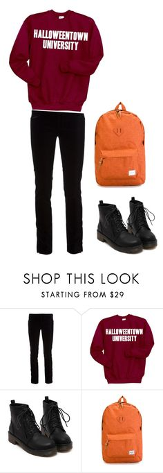 """Halloweentown University Student (inspired by Disney's Halloweentown)"" by casspjames ❤ liked on Polyvore featuring dVb Victoria Beckham, Disney and Herschel Supply Co."
