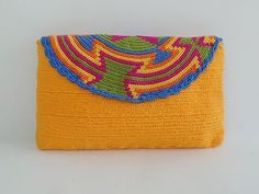 """Original"" Medium Wayuu Clutch Bag +""FREE"" Wayuu Bracelet ""FREE"" US Shipping +"