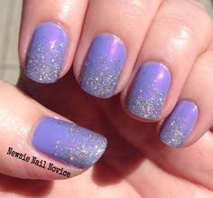 Essie Using my Maiden Name with a glitter gradient of Butter London Fairy Cake!