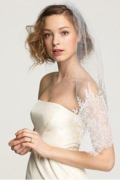 White Chantilly Lace Wedding Veil #white #lace #wedding #veil #jcrew
