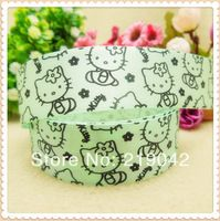 New Arrival,1'' 25MM,Hello kitty printed grosgrain ribbon, gift wrap ribbon, wedding ribbon, DIY craft materials,XW4206