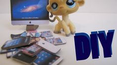 DIY Electronics: How To Make LPS iPhones, Game Controls, And Computers. i've tried this, it really does work. Doll Crafts, Fun Crafts, Diy And Crafts, Crafts For Kids, Paper Crafts, Little Pet Shop, Little Pets, Lps Accessories, Computer Accessories