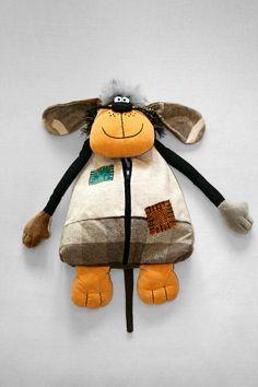 Pajamas keeper 23 inch by manartas on Etsy Animal Pajamas, Dog Pajamas, Felt Puppets, Kokeshi Dolls, Animal Pillows, Kids Bags, Soft Dolls, Baby Toys, Children's Toys